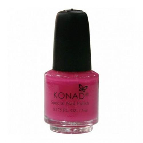 KONAD Лак на акриловой основе для стемпинга, темно-розовый S40 5 мл повседневный лак konad regular nail polish konad psyche green