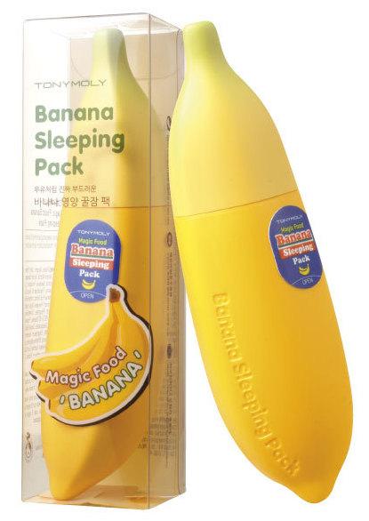 TONYMOLY Маска ночная для лица / Magic Food Banana Sleeping Pack 85 мл -  Маски