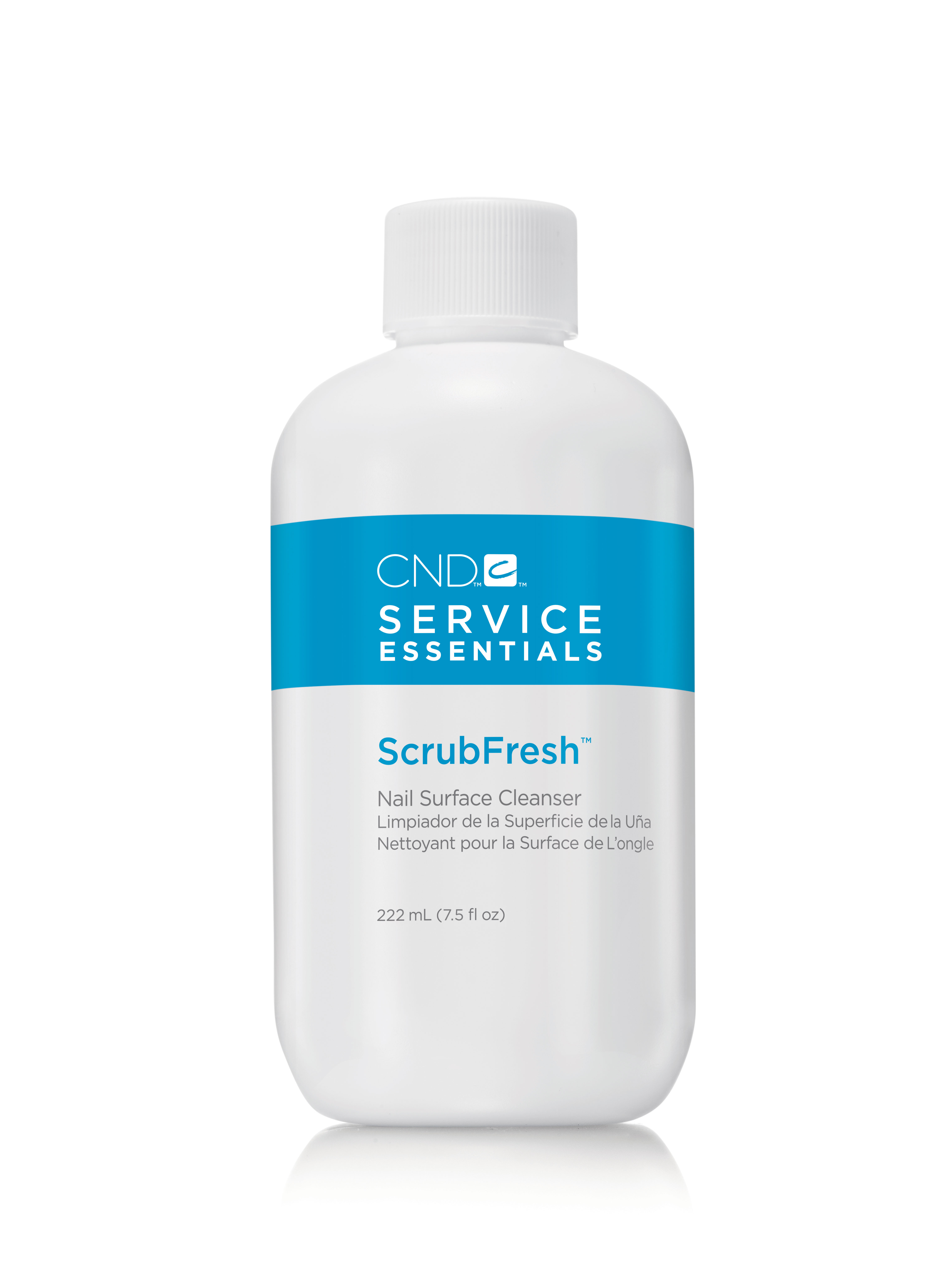 CND Лосьон очищающий для ногтей / Scrub Fresh 222 мл cnd лосьон для рук и тела сорго и мандарин cnd scentsations lotion tangerine and lemongrass 14117 245 мл