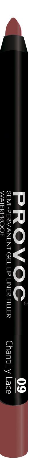 PROVOC Подводка гелевая в карандаше для губ, 09 розовый с шиммером / Gel Lip Liner 009 Chantilly Lace 7 г