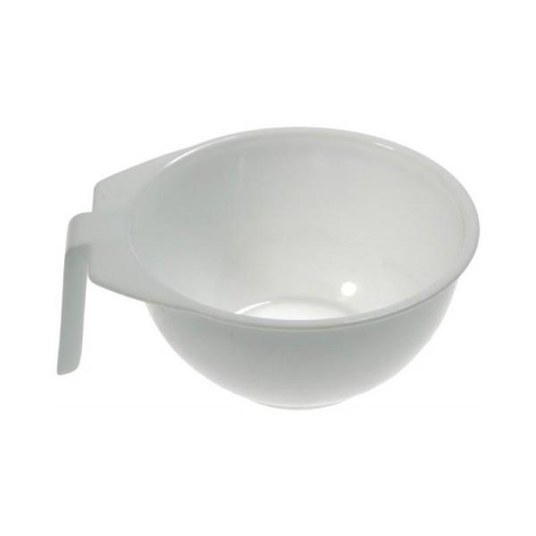 HAIRWAY Чаша для краски с ручкой 13см белаяКосметологические емкости<br>Чаша для краски пластиковая, с ручкой. Диаметр: 13 см. Цвет: белый.<br>