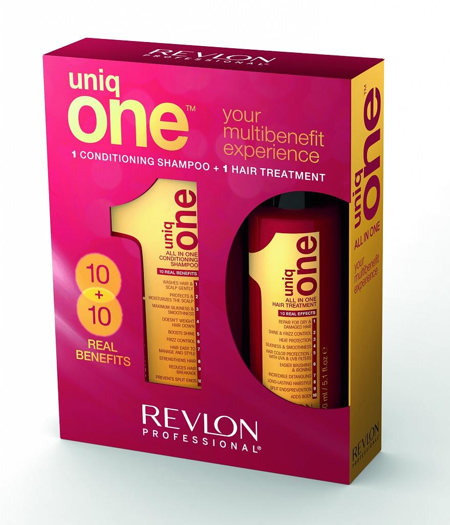 цена на REVLON Professional Набор - дуопак Uniq One (шампунь 300 мл + маска-спрей 150 мл)
