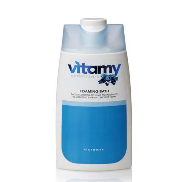 HISTOMER Пена смягчающая для ванны / VITAMY BATHING FOAM 200 млПена для ванны<br>Восстанавливающая пена для душа и ванн с легким фруктовым ароматом. Повышает увлажненность и тонус кожи. Специально для уставшей, хрупкой и обезвоженной кожи. Активные ингредиенты: витамины B1, В3, В5, В6, аминокислота бетаин, экстракты ежевики и черники, лимонная и молочная кислоты. Способ применения: разбавлять водой для принятия ванны или использовать как обычный гель для душа.<br>