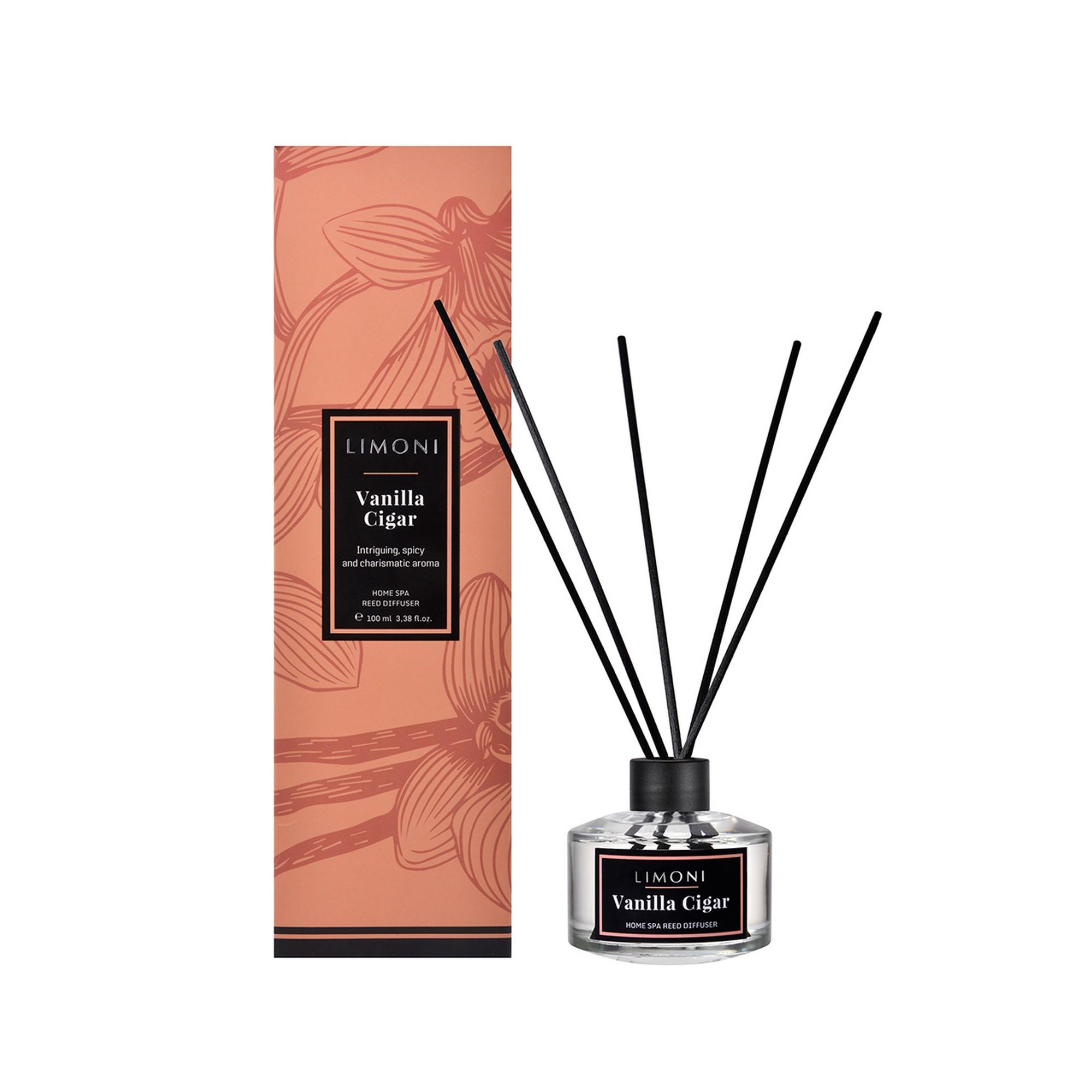 LIMONI Вода парфюмерная в наборе с палочками Дымчатая Ваниль / LIMONI Vanilla Cigar, 100 мл от Галерея Косметики