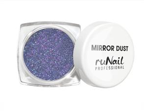 RuNail Пыль зеркальная для втирки с аппликатором (цвет синий), 1 г