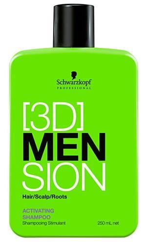SCHWARZKOPF PROFESSIONAL Шампунь-активатор роста волос / ВС [3D]MEN 250мл