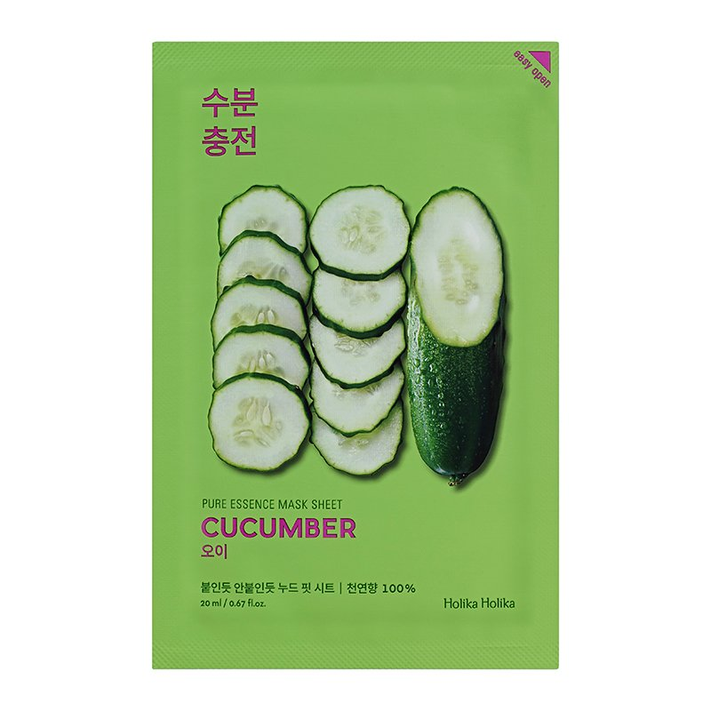 HOLIKA HOLIKA Маска тканевая успокаивающая (огурец) Пьюр Эссенс / Pure Essence Mask Sheet Cucumber 20мл маска holika holika aloe 99% soothing gel jelly mask sheet