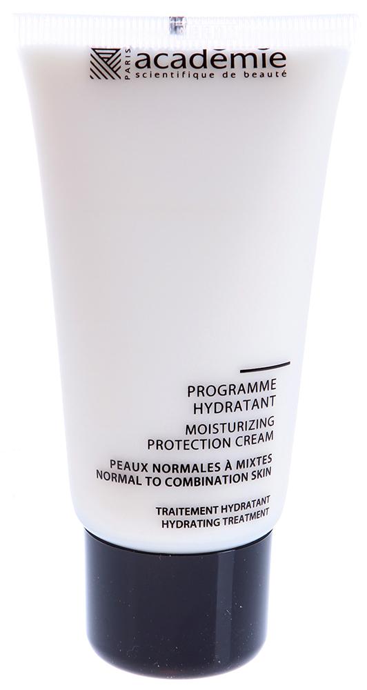 ACADEMIE Крем увлажняющий защитный Programme Hydratant / VISAGE 50млКремы<br>Идеальное средство для чувствительной кожи в экстремальных условиях, когда клетки усиленно теряют влагу. Обладает глубоко увлажняющим и защитным действием. Смягчает, успокаивает и возвращает баланс чувствительной обезвоженной коже. Результат: Мягкая и увлажненная кожа без проявлений стресса, уровень влаги в клетках кожи восстановлен. Активные ингредиенты: экстракт молозива: 3%,&amp;nbsp;экстракт термальных водорослей: 2%,&amp;nbsp;экстракт дрожжей: 2%,&amp;nbsp;масло жожоба: 1,7%,&amp;nbsp;увлажняющий комплекс: 1,1%,&amp;nbsp;гипоаллергенный активный ингредиент 0.1%,&amp;nbsp;концентрация активных ингредиентов 12%. Способ применения:&amp;nbsp;крем рекомендуется использовать 1-2 раза в день. Нанести крем на очищенную и тонизированную кожу и впитать мягкими массажными движениями.<br><br>Объем: 50 мл