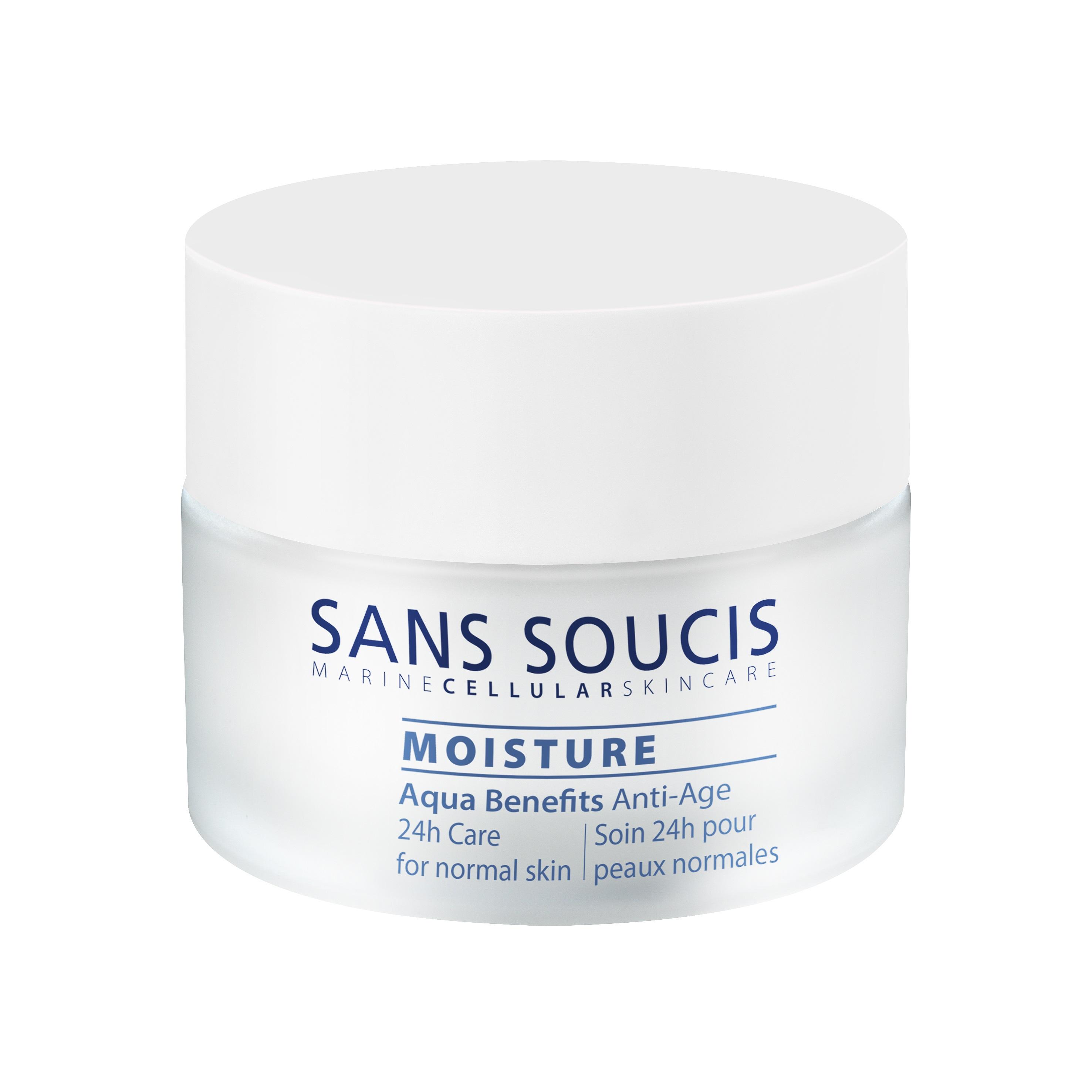 SANS SOUCIS Крем антивозрастной для 24 –часового ухода «Aqua Benefits» для нормальной кожи / Anti-ag