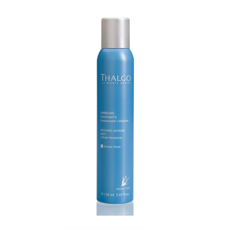 THALGO Спрей морской оживляющий Клеточный востановитель для всех типов кожи 150млСпреи<br>Спрей увлажняет и обогащает кожу микроэлементами, витаминами, полезными свойствами морской воды. Тонизирует и насыщает кожу энергией.  Активные ингредиенты: Вода, глицерин, морская вода, гидрогенизированное касторовое масло, отдушка, аллантоин, глюконат цинка, экстракт водоросли Gelidium Sesquipedale, экстракт грейпфрута (Citrus Grandis), глюконат меди, сорбат калия, лимонная кислота. Не содержит парабенов, минеральных масел, пропиленгликоля, ГМО и побочных продуктов животного происхождения.  Способ применения: Закройте глаза и распылите спрей на лицо и шею. Промокните излишки салфеткой.<br><br>Вид средства для лица: Морской