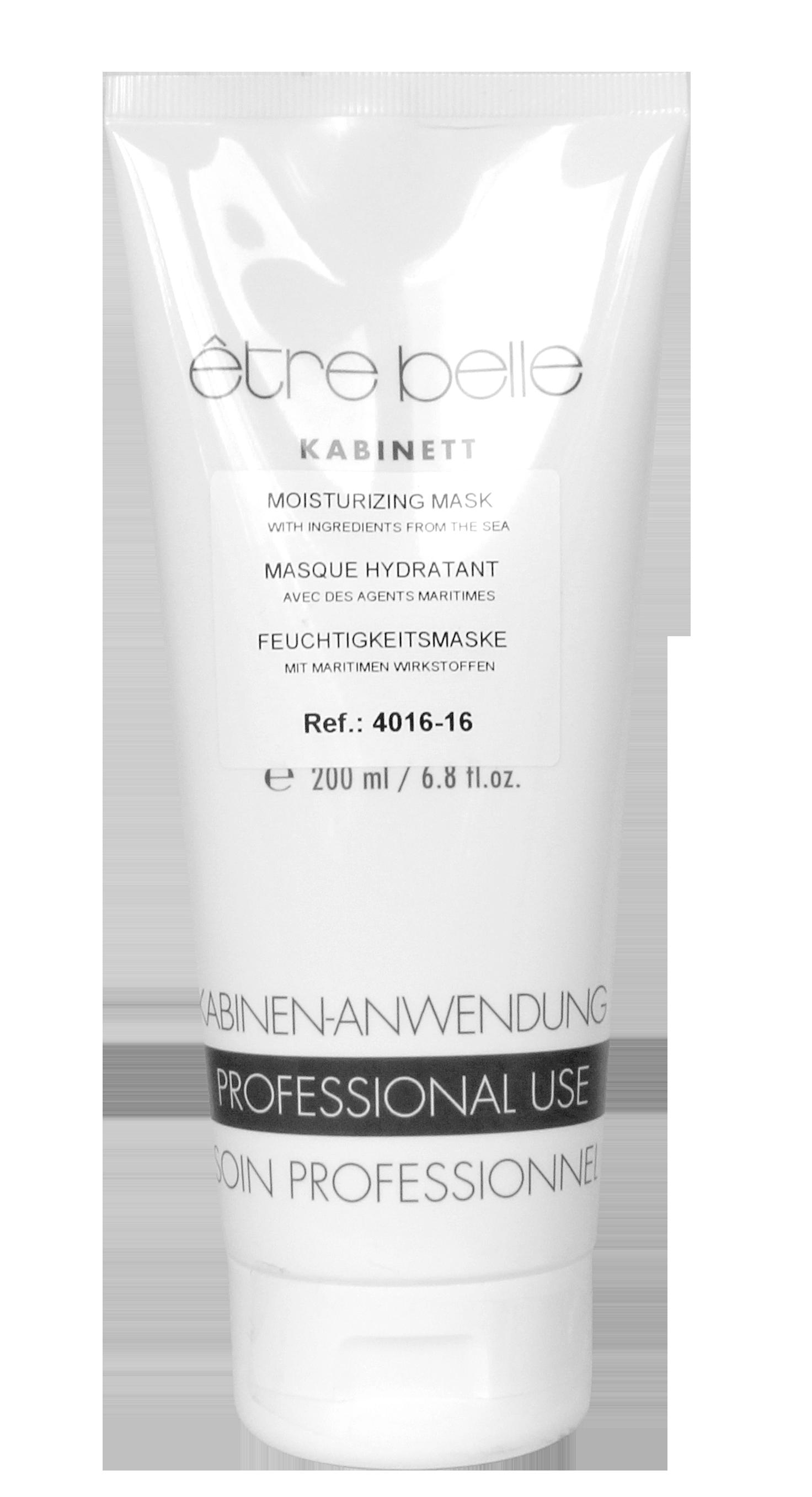 ETRE BELLE Маска увлажняющая / Skin Therapy 200 млМаски<br>Увлажняющая кремовая маска является интенсивным уходом за обезвоженной кожей. Благодаря высокому содержанию в маске натурального экстракта бурых водорослей, экстракта листьев зеленой мяты, а также гиалуроновой кислоты, интесивно увлажнет и улучшает способность кожи удерживать влагу, обладает невероятно длительным эффектом. После применения кожа становится более упругой, свежей и гладкой. Показание: для обезвоженной кожи любого возраста. Способ применения: наносить 1-2 раза в неделю, на тщательно очищенную кожу лица. Через 15 минут снять остатки маски влажным спонжем или полотенцем. Можно использовать как интенсивный ночной уход. Для этого нанесите маску тонким слоем и оставить на всю ночь. Активные ингредиенты: экстракт бурых водорослей, гиалуроновая кислота, экстракт листьев зеленой мяты, бетаин, токоферол, фосфолипиды, кокосовое масло.<br><br>Вид средства для лица: Увлажняющий<br>Возраст применения: После 25<br>Типы кожи: Сухая и обезвоженная<br>Назначение: Обезвоживание