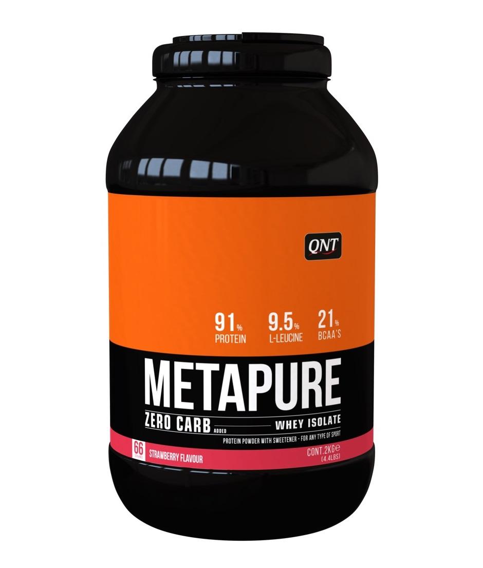 Купить QNT Добавка биологически активная к пище Метапьюр зеро карб, клубника / ZERO CARB METAPURE Strawberry 2 кг