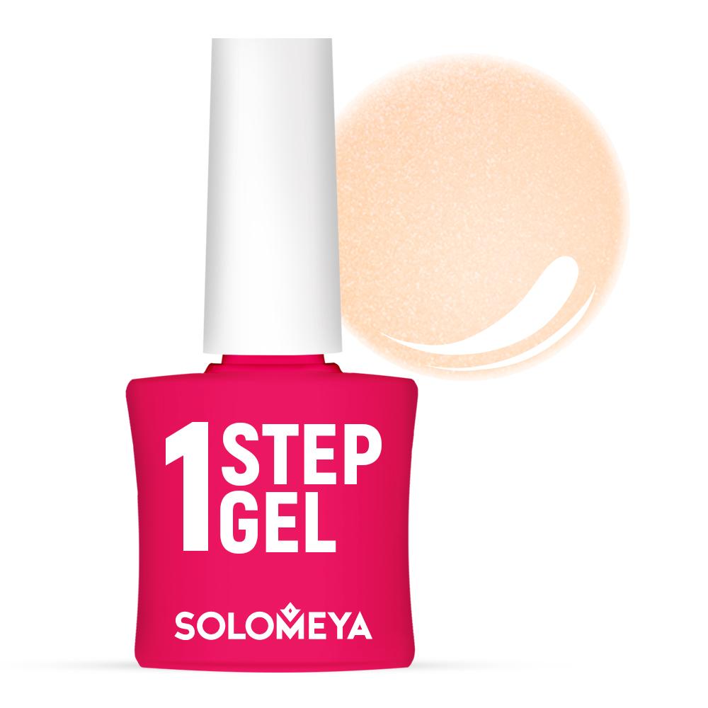 Купить SOLOMEYA Гель-лак однофазный для ногтей, 39 шампань / One Step Gel Champagne 5 мл