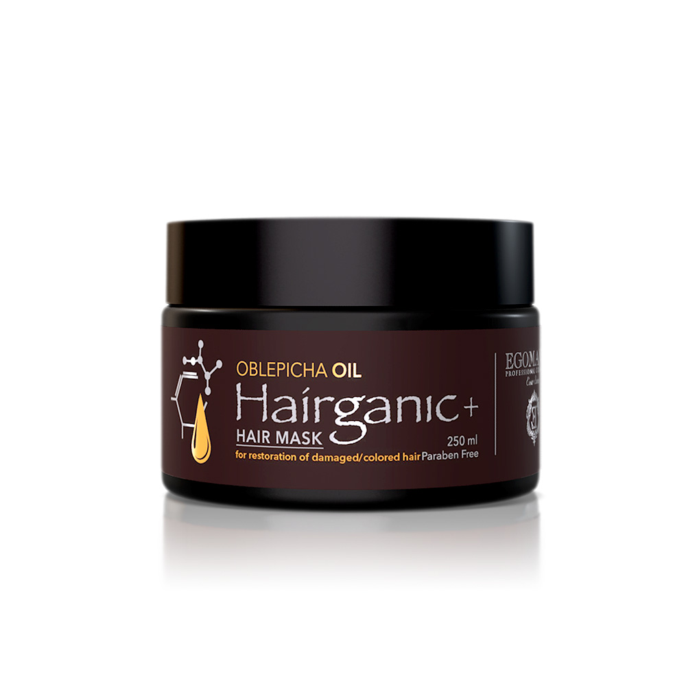 EGOMANIA Маска с маслом облепихи для восстановления повреждённых, окрашенных волос / HAIRGANIC, 250 мл