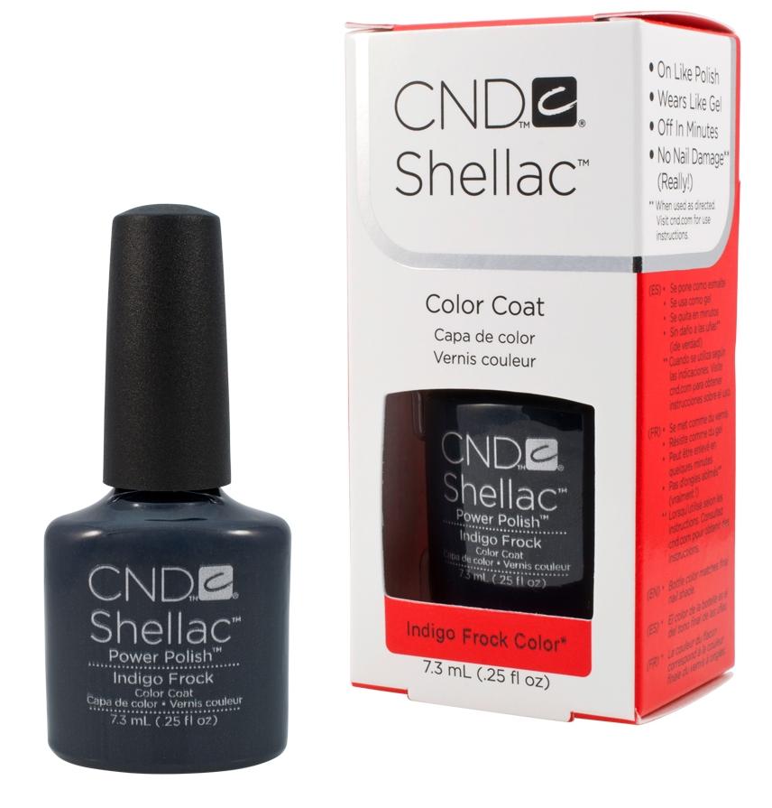 CND 90625 покрытие гелевое Indigo Frock / SHELLAC 7,3мл cnd 083 покрытие гелевое bare chemise shellac 7 3мл