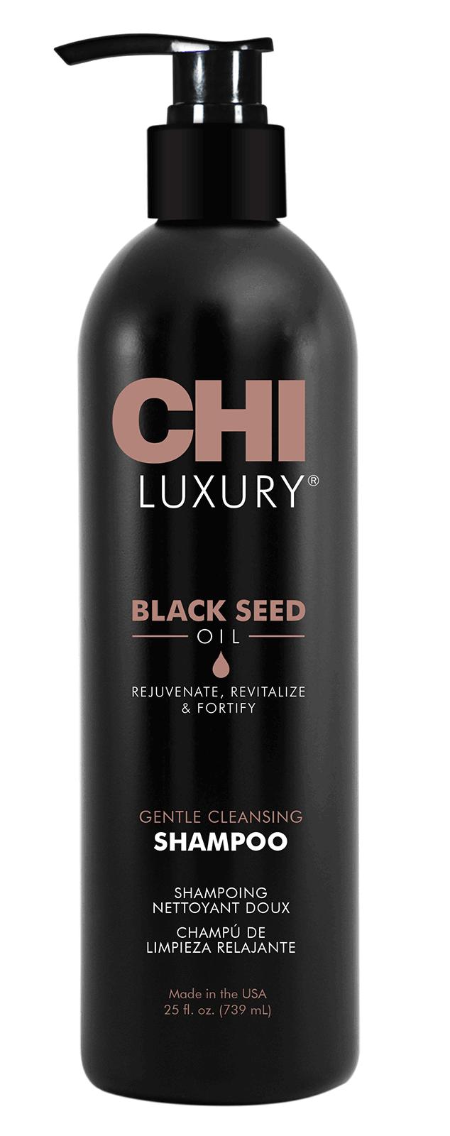 CHI Шампунь с маслом семян черного тмина для мягкого очищения волос / CHI LUXURY 739 мл - Шампуни
