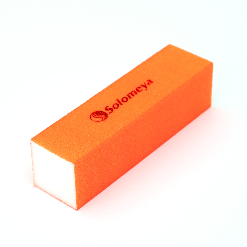 SOLOMEYA Блок-шлифовщик для ногтей, оранжевый / Orange Sanding Block