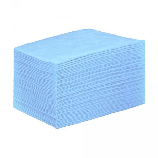 IGRObeauty Простыня 80*200 см 18 г/м2, поштучное сложение, цвет голубой 20 шт - Одноразовые простыни