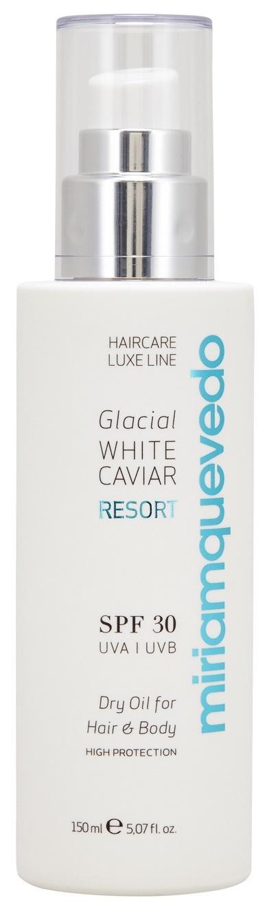 Купить MIRIAM QUEVEDO Масло сухое с маслом прозрачно-белой икры для волос и тела SPF 30 / Glacial White Caviar Resort Dry Oil For Hair and Body 150 мл