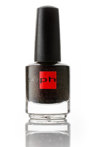 SOPHIN Лак для ногтей, глубокий темно-коричневый с медным шиммером 12мл
