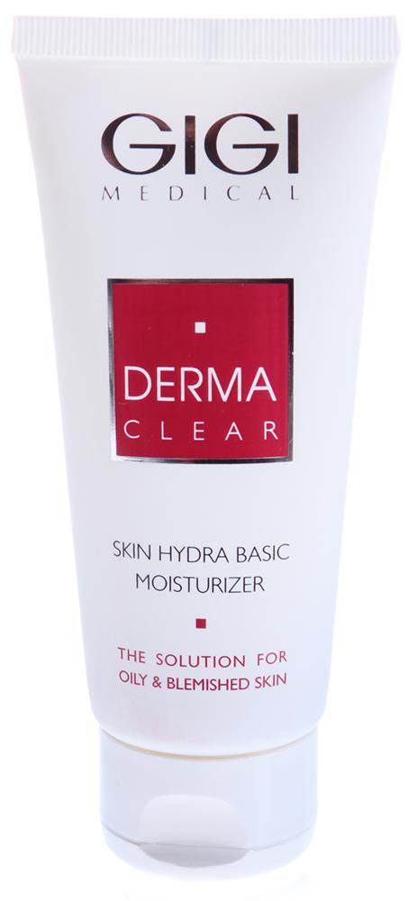 GIGI База увлажняющая под макияж / Skin Hydra Basic Moisturizer DERMA CLEAR 100млКремы<br>Сверхлегкий увлажняющий крем. Быстро впитывается, не оставляя ощущения липкости, идеальная база под make-up. Не содержит фильтров от УФО, поэтому в домашнем уходе является также великолепным ночным восстанавливающим кремом. Действие: Компенсирует недостаток воды и липидов, препятствует пересушиванию кожи, восстанавливает гидролипидную пленку, оказывает противовоспалительное и себостатическое, выраженное успокаивающее и восстанавливающее действие (аллантоин, пантенол), снимает раздражение и покраснение, повышает местный кожный иммунитет, укрепляет сосуды. Активные ингредиенты: азелаиновая кислота, сепиконтоль, дипотассиум глициризат, сквален, пантенол, аллантоин, витамин Е, ВНТ. Способ применения: используется как завершающее средство в салонных процедурах. Нанести небольшое количество крема и внедрить легкими массажными движениями.<br><br>Объем: 100<br>Типы кожи: Проблемная