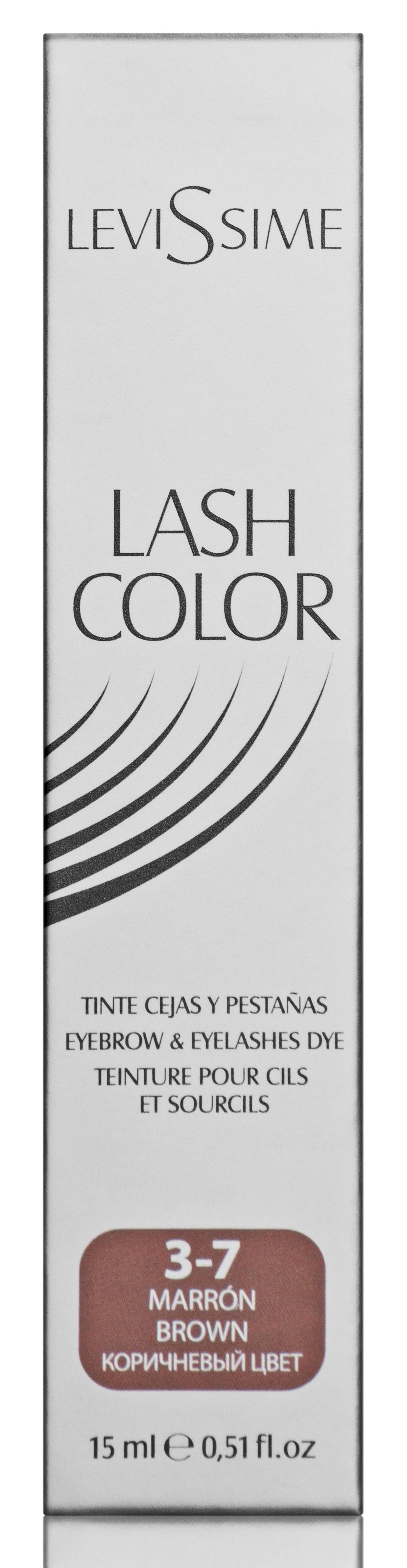 LEVISSIME Краска для бровей и ресниц, № 3.7 коричневый / Lash Color 15 мл - Краски для бровей