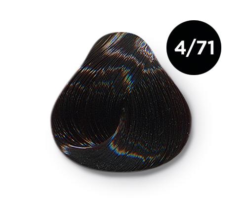 OLLIN PROFESSIONAL 4/71 краска для волос, шатен коричнево-пепельный / OLLIN COLOR 60 мл