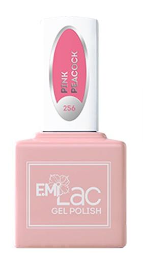 E.MI 256 GL гель-лак для ногтей, Розовый павлин / E.MiLac 6 мл