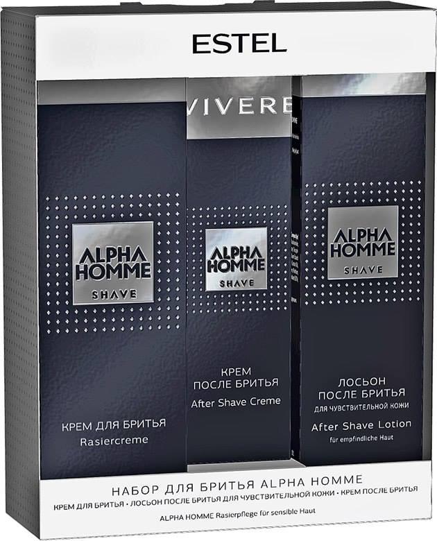 ESTEL PROFESSIONAL Набор для мужчин (крем для бритья + крем после бритья + лосьон после бритья) / Alpha Homme лосьоны после бритья gillette лосьон после бритья 50 мл