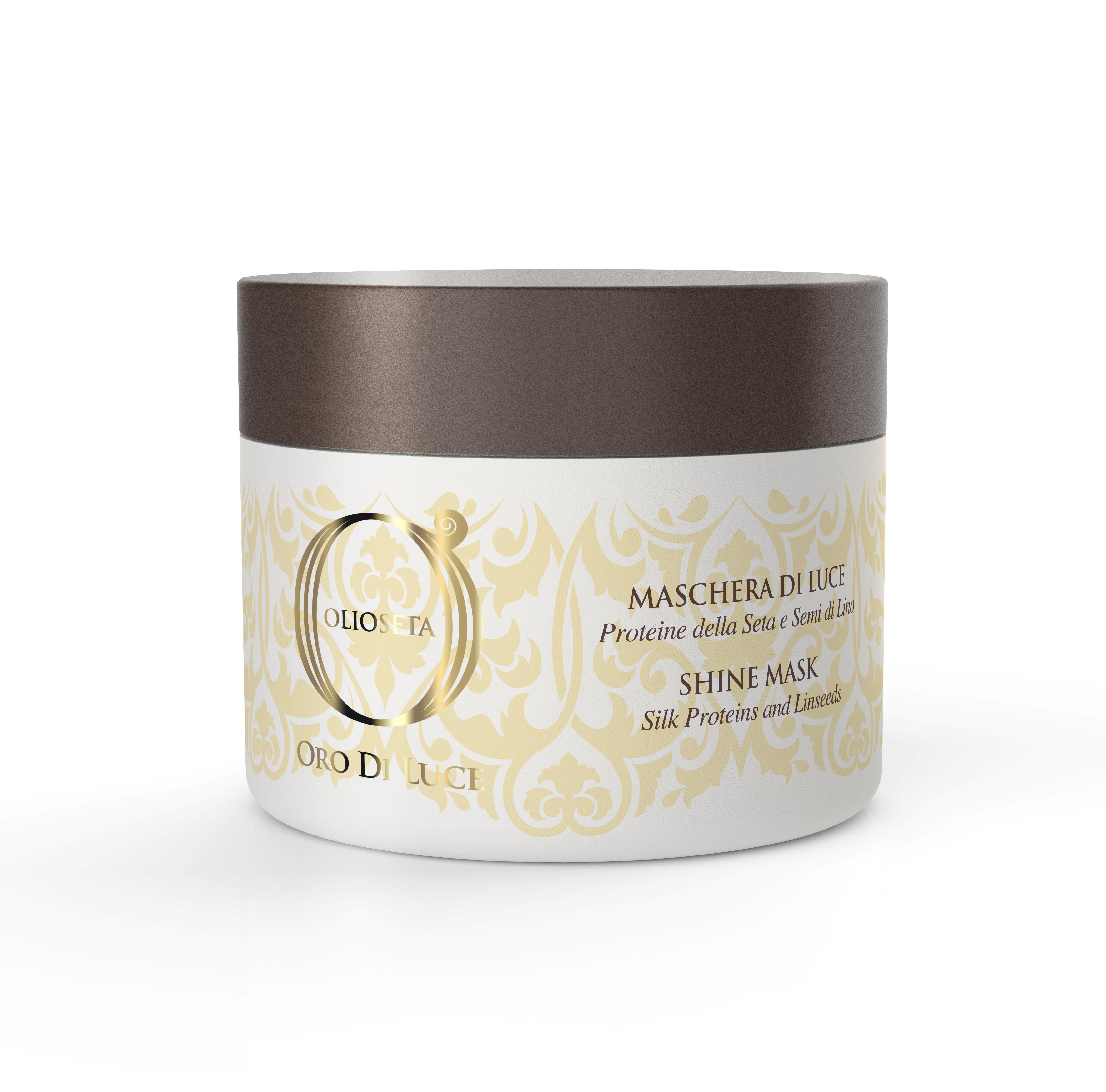 BAREX Маска-блеск с протеинами шелка и семенем льна / OLIOSETA ORO DI LUCE Shine mask 200 мл