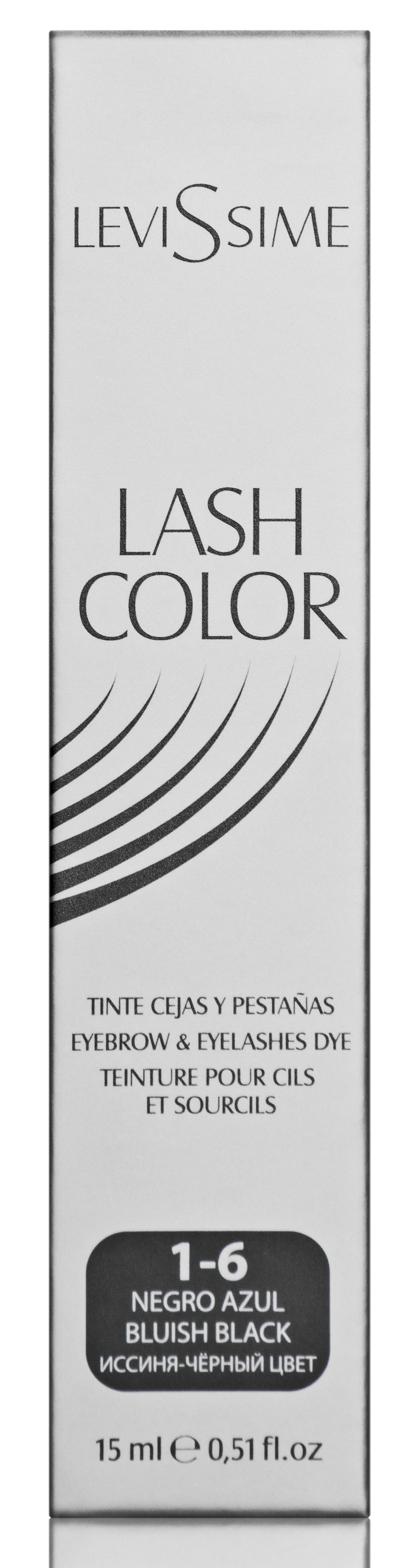 LEVISSIME Краска для бровей и ресниц, № 1.6 иссиня-черный / Lash Color 15 мл -  Краски для бровей