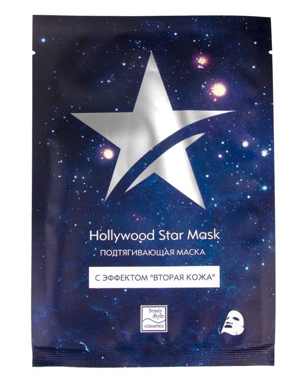 BEAUTY STYLE Маска тканевая подтягивающая с эффектом вторая кожа / Hollywood Star Mask 30 г  - Купить