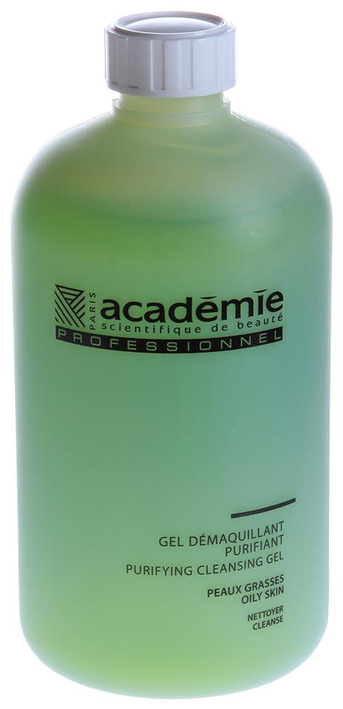ACADEMIE Гель очищающий для лица 500млГели<br>Гель для жирной и комбинированной кожи, а так же для кожи, склонной к чувствительности. Очищает кожу от загрязнений и избытка кожного сала, успокаивает, матирует кожу. Результат: Матовая и чистая кожа без раздражения. Активные ингредиенты: гидролизат лактат: 0,5%,&amp;nbsp;Алоэ вера: 0,5%,&amp;nbsp;активный гипоаллергенный ингредиент 0.025 %,&amp;nbsp;концентрация активных ингредиентов 1.025%. Способ применения:&amp;nbsp;использовать 2 раза в день. Немного геля вспенить в руках, нанести массажными движениями на кожу лица, смыть водой. Приступить к этапу тонизирования.<br><br>Вид средства для лица: Очищающий