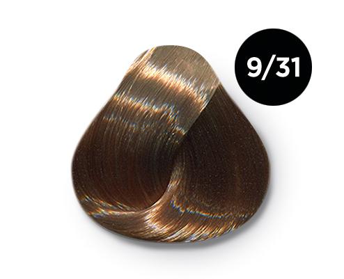 Купить OLLIN PROFESSIONAL 9/31 краска для волос, блондин золотисто-пепельный / OLLIN COLOR 100 мл
