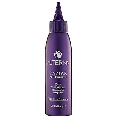ALTERNA Сухой шампунь / Alterna Caviar Anti-aging Seasilk Dry Shampoo 75млШампуни<br>Сухой шампунь был специально разработан так, чтобы нежно абсорбировать излишнюю жирность волос, устранить нежелательный эффект от действия средств по укладке волос и загрязнения, в результате негативного воздействия окружающей среды. Сухой шампунь, в состав которого не входит тальк, моментально оживляет волосы, и их текстура становится чистой и свежей. Если есть необходимость, его следует использовать в перерыве между каждым мытьем волос. Имеет свежий аромат бергамота и зеленого чая, придавая волосам эффект только что вымытых волос. Незаменим в экстремальных ситуациях, когда недоступна горячая вода, на природе, либо в поездках. Способ применения: для того чтоб активировать сухой шампунь, наклоните бутылочку и слегка встряхните около корней волос. Кончиками пальцев, используя массажные движения, втирайте сухой шампунь вначале у корней, а затем распределяя его по всей длине волос. Этим самым Вы дадите возможность активным ингредиентам проникнуть в глубину волос. Чтоб удалить остатки шампуня с головы, надо вытереть ее полотенцем, как после обычного мытья волос или просто стряхнуть остатки. Затем расчешите волосы и сделайте укладку.<br>