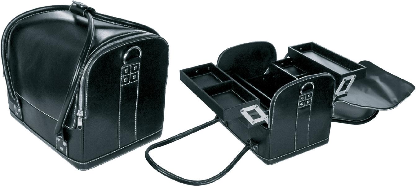 HAIRWAY Чемодан Hairway д/визажиста черный 300х200х260мм -  Чемоданы и чехлы для инструмента
