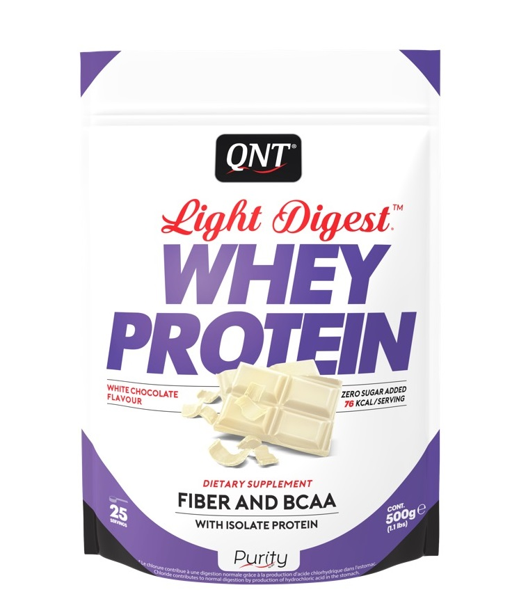 Купить QNT Добавка биологически активная к пище Лайт дайджест вей протеин, белый шоколад / LIGHT DIGEST WHEY PROTEIN White Chocolate 500 г