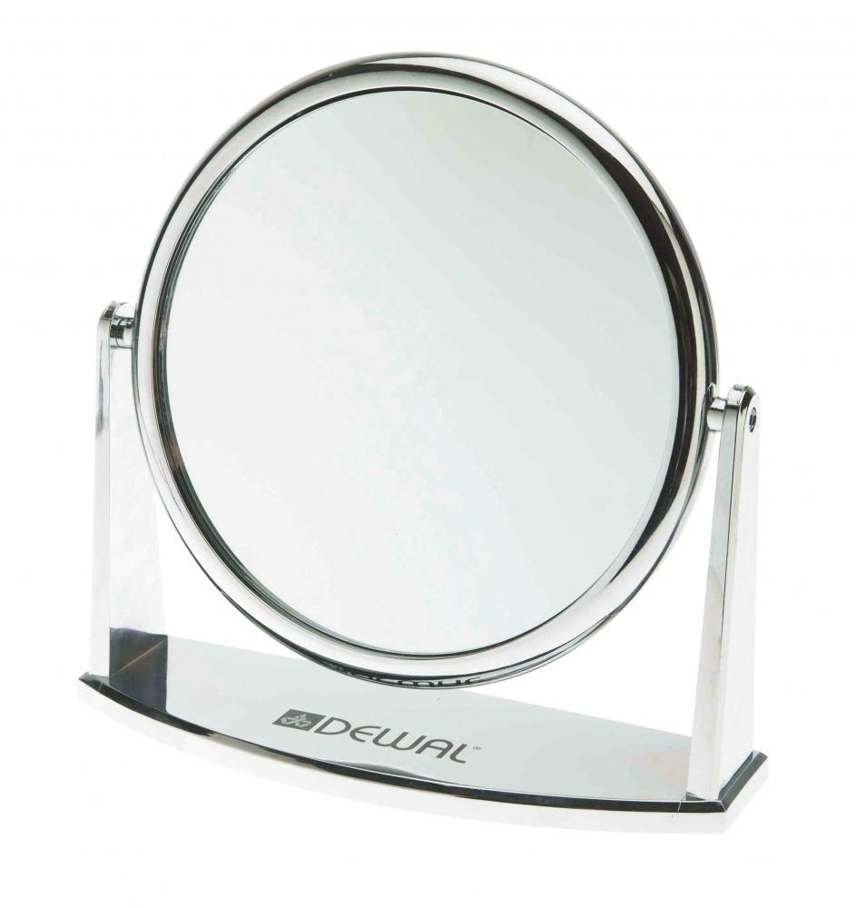 DEWAL PROFESSIONAL Зеркало настольное, пластик, серебристое 18х18,5 см -  Зеркала