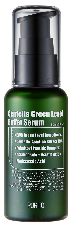 Купить PURITO Сыворотка увлажняющая с центеллой для восстановления кожи / Centella Green Level Buffet Serum 60 мл