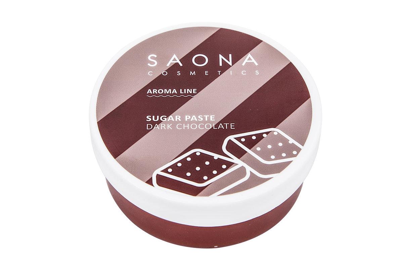 SAONA COSMETICS Паста сахарная для шугаринга, темный шоколад / SPA DARK CHOCOLATE 200 г -  Сахарные пасты