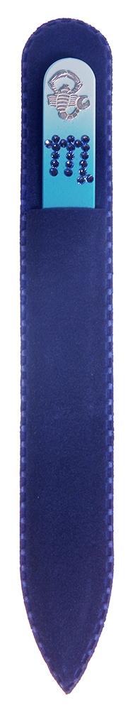 BOHEMIA PROFESSIONAL Пилочка стеклянная цветная с кристаллами Знаки зодиака 135ммПилки для ногтей<br>Нет ничего лучше для натуральных ногтей, чем пилка из богемского хрусталя. Данный материал имеет практически неограниченный срок использования. Пилки Bohemia Professional имеют наиболее стойкий абразив. Пилка из богемского хрусталя также может стать стильным аксессуаром или красивым подарком. Bohemia Professional представляет Вам огромный выбор прозрачных и цветных пилок с декором: ручная роспись, декорация стразами, пилки с логотипом, и полноцветные изображения. Инструмент можно стерилизовать и обрабатывать химическими дезинфекторами, антисептиками.<br>