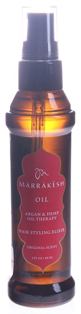 MARRAKESH Масло восстанавливающее для волос Original / Marrakesh Oil Original 60 млМасла<br>Линия Original - классическое сочетание восточных пряностей, масла арганы и конопли. Масло Marrakesh это мощный коктейль, обогащённый питательными веществами арганового масла из Марокко и ультра укрепляющего конопляного масла существенно улучшает состояние и текстуру волос. Вы получите гладкие шелковистые волосы с глянцевым блеском без выбивающихся локонов. А так же это удивительное средство позволит сократить время укладки Ваших шикарных волос вдвое. Способ применения: нанесите небольшое количество на влажные или сухие волосы. Расчешите для равномерного распределения. Можете так же добавить несколько капель масла в Ваше любимое средство ухода.<br><br>Объем: 60 мл