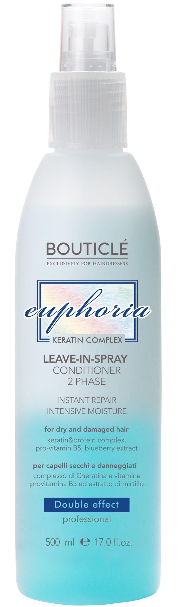 BOUTICLE Спрей-кондиционер двухфазный увлажняющий для волос / Leave-in-Spray Conditioner 2 Phase 500 мл