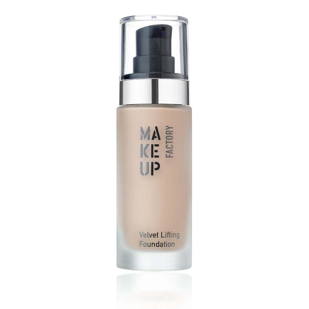 MAKE UP FACTORY Крем тональный с эффектом лифтинга для нормальной, сухой и комбинированной кожи, 10 розовый беж / Velvet Lifting Foundation