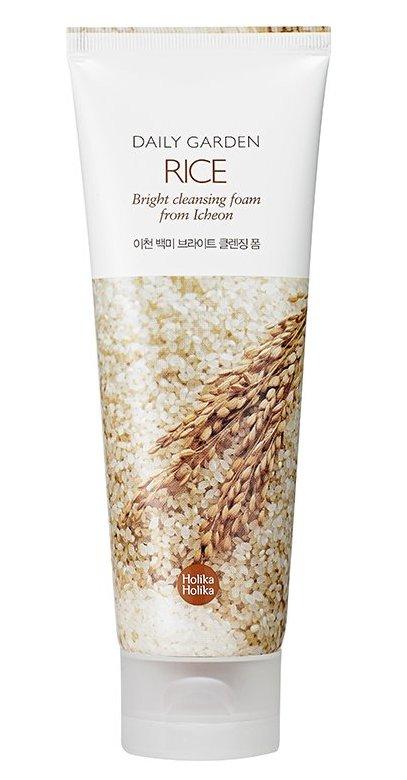 HOLIKA HOLIKA Пенка очищающая с рисом & Дейли Гарден&  / Daily Garden Rice Bright cleansing foam from Icheon 120мл -  Пенки