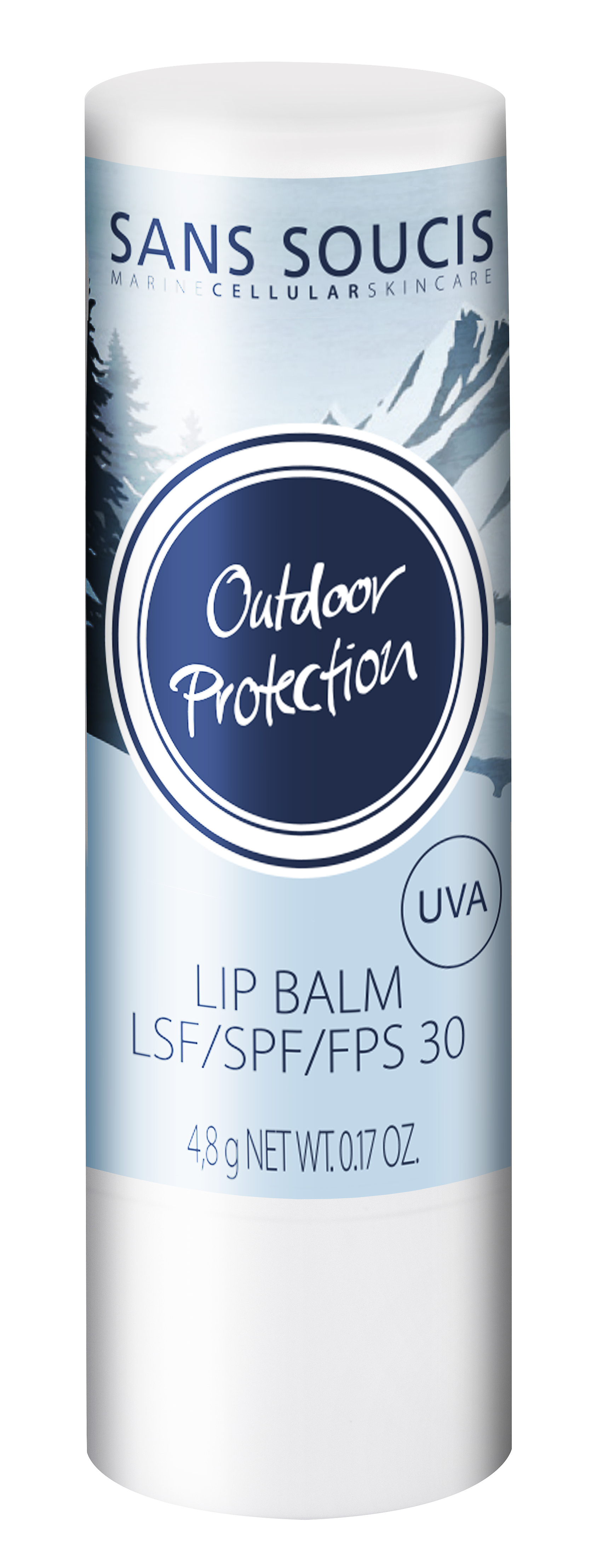 SANS SOUCIS Бальзам для губ защитный / Outdoor Protection Lip Balm SPF 30 4,8 г sans soucis крем вв spf 15 натуральный aqua clear skin beauty balm cream spf 15 natural 40мл