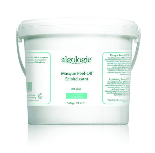 ALGOLOGIE Маска альгинатная осветляющая 550грМаски<br>Высокоэффективная натуральная маска с антиоксидантными свойствами на базе морских водорослей, ила и растительных компонентов создана для устранения причин и последствий пигментационной активности. Средство выравнивает тон, осветляет пятна и веснушки, блокирует синтез меланина, деликатно очищает и восстанавливает иммунитет эпидермиса. Имеет порошкообразную структуру, которая разводится водой.  Активные ингредиенты: Диатомовый ил, альгинат натрия, экстракт камнеломки, экстракт винограда. Способ применения: 30 г порошка развести в 90 мл воды, перемешать, нанести на кожу лица и шеи, оставить на 15 минут, после чего снять как пленку.<br><br>Объем: 550<br>Класс косметики: Натуральная