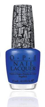 OPI Лак для ногтей Blue Shatter / SHATTER 15мл~Лаки<br>Blue Shatter - голубой лак-кракелюр, создающий невероятный узор на ваших ногтях! Нанесите его поверх обычного лака и, когда кракелюр подсохнет, он начнет трескаться, создавая двойную текстуру покрытия и делая ваши ногти неотразимыми! Способ применение: Нанесите 1-2 слоя на ногти после нанесения базового покрытия. Для придания прочности и создания блеска затем рекомендуется использовать верхнее покрытие.<br><br>Цвет: Синие<br>Виды лака: Кракелюр