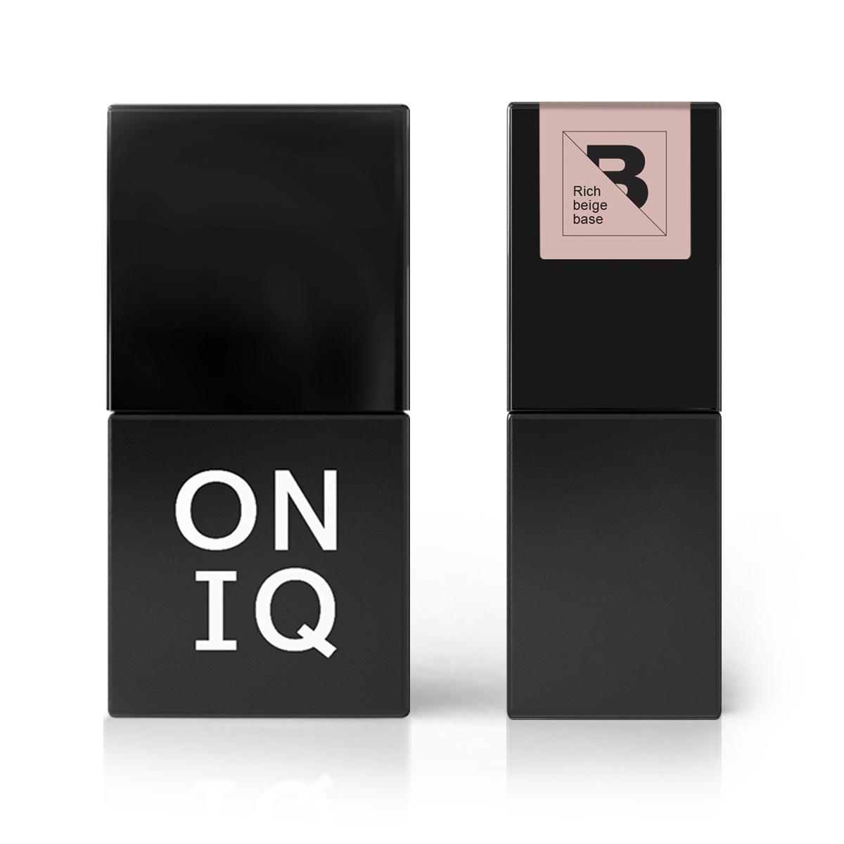 Купить ONIQ Покрытие базовое, насыщенно-бежевое / Rich beige base 10 мл