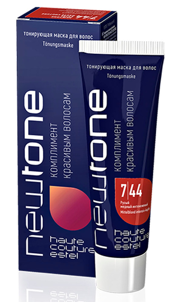 Купить ESTEL HAUTE COUTURE 7/44 маска тонирующая для волос, русый медный интенсивный / NEWTONE 60 мл